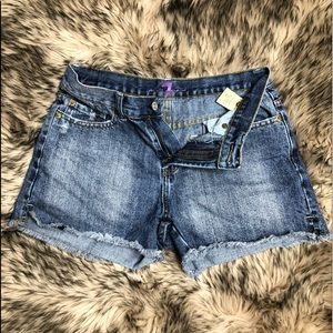 7 for all mankind distressed Raw hem shorts